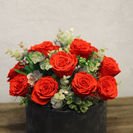 Miegančių rožių dėžutė