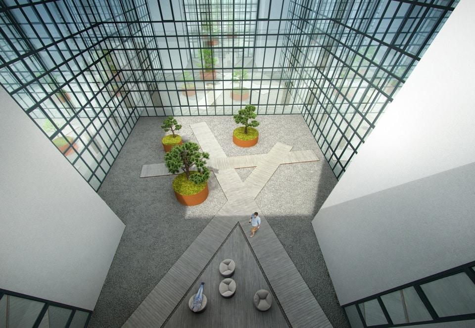 Alkos apartamentų kiemo vizualizacija 2