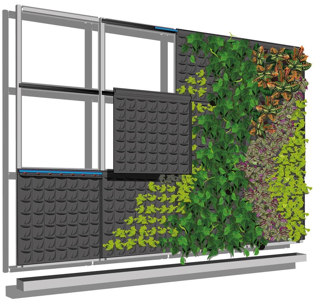 Fytotextile® modulinė sistema žaliosioms sienoms